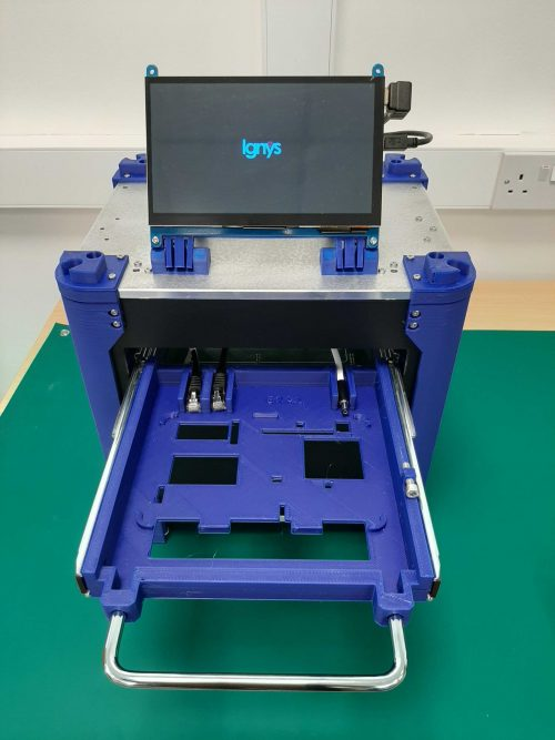 Test fixtures Ignys tray open