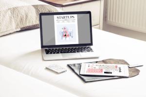 Startups laptop