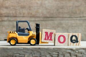 MOQ blocks to demonstrate Minimum Order Quantity